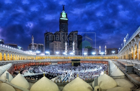 A panoramic shot in Kaaba, Holy Mosque