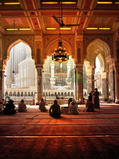 A view from Inside Masjidul Haram.