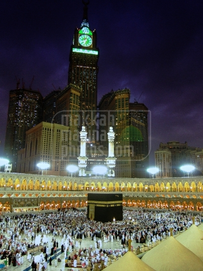 The Holy Grand Mosque in Makkah.