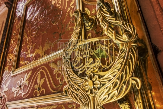 One of the doors made of brass at Masjid Nabawi