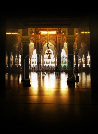 A shot from inside Holy Grand Mosque Makkah.