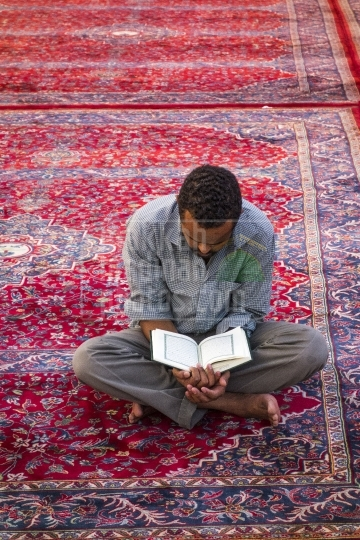 Reciting Qur'an, on Piazza of Haram Nabawi Sherif