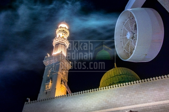The Green Dome and water spray fan.