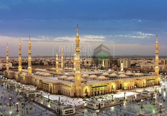 A panoramic shot, Holy Mosque Medina
