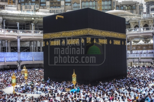 A shot from performing tawaf, Kaaba, Makkah, Saudi Arabia.