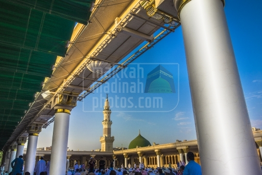 A shot from roftop, Masjid Nabawi