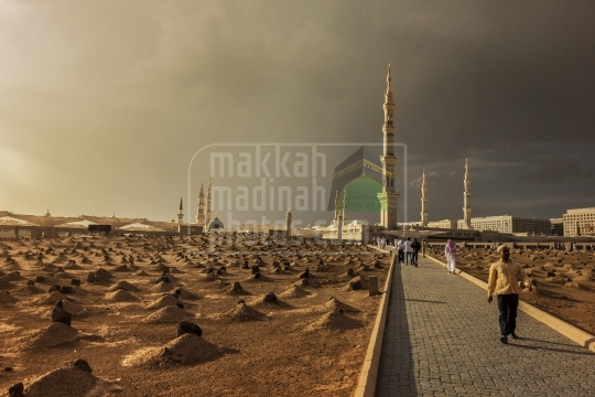 A view from Baqie, Madinah