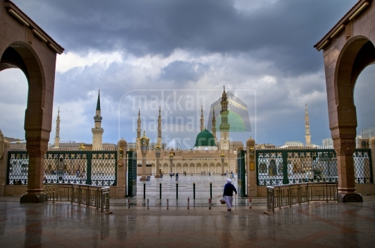 A view from the South,Masjid Nabawi.