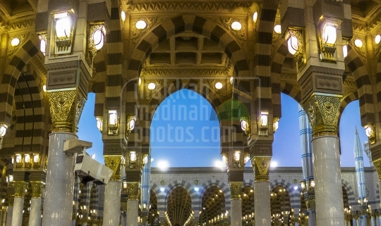 Arches inside Masjid Nabawi.