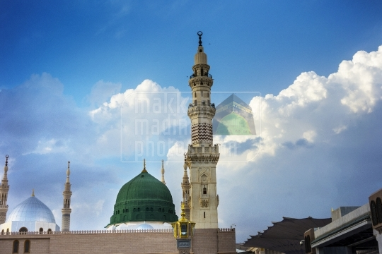 Green dome and minaret