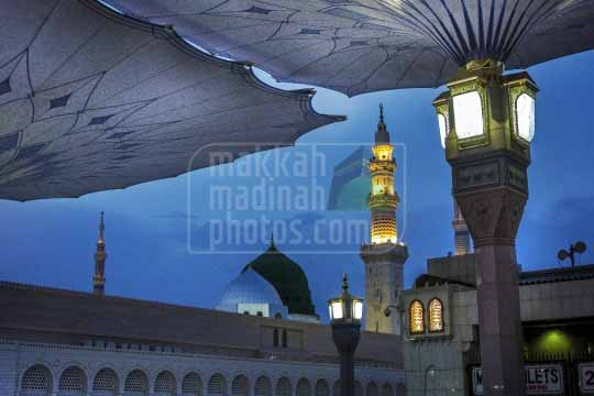 Green Dome and Minaret,Medinah