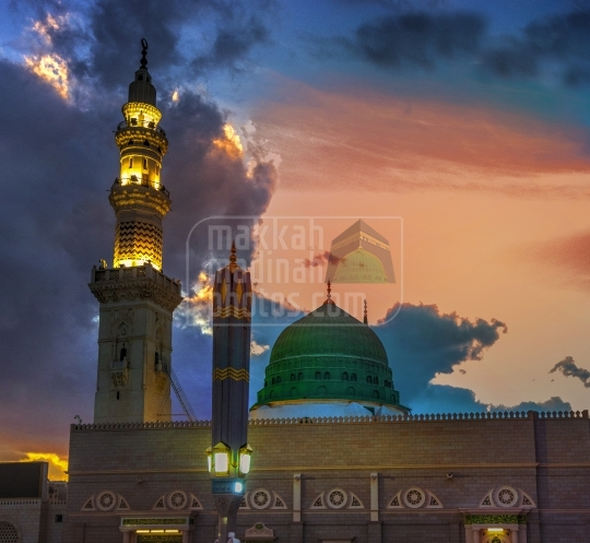 Green Dome and Minarets