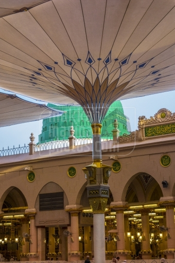 Green Dome, View from Inside Holy Mosque