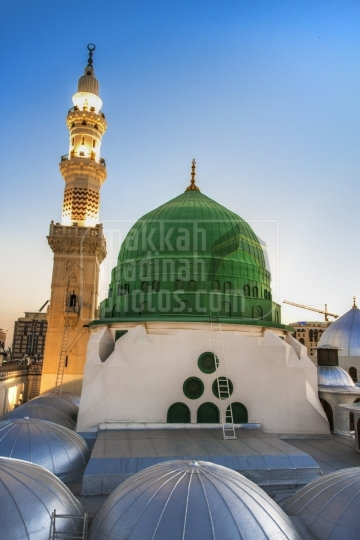 Green Dome, View from roof top