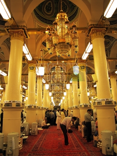 Inside view of haram Nabawi Sherif