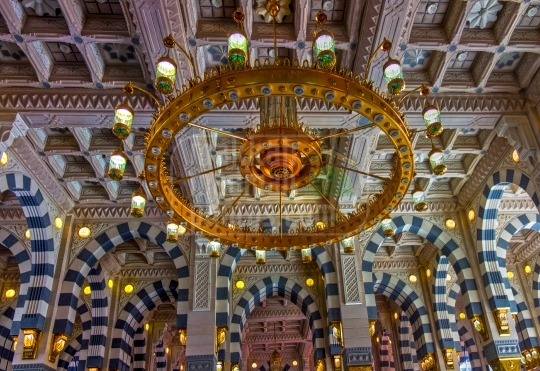 Interior of Masjid Nabawi,Medinah