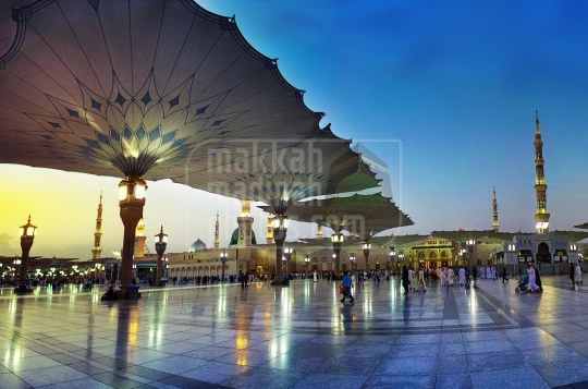 Masjid Nabawi view from Southern side.