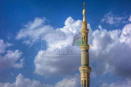Minaret and clouds,Medinah