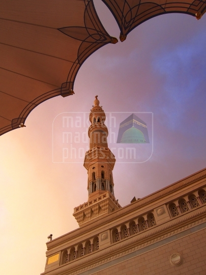 Minaret and open canopy