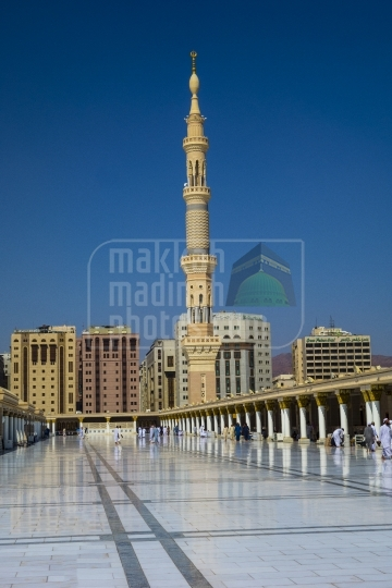 Minaret view from roof top of Holy haram