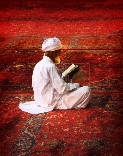 Reciting Holy Qur'an, Inside Holy Mosque