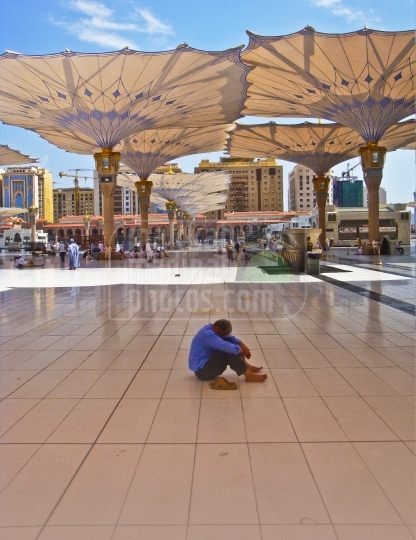 Rest in piazza of Haram