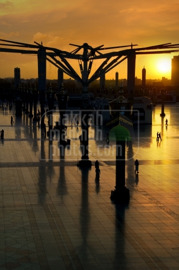Sunrise in Holy Mosque