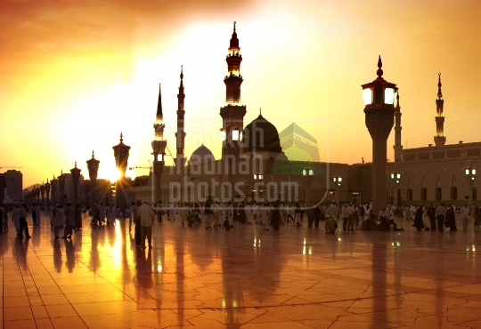 Sunset in Madinah.