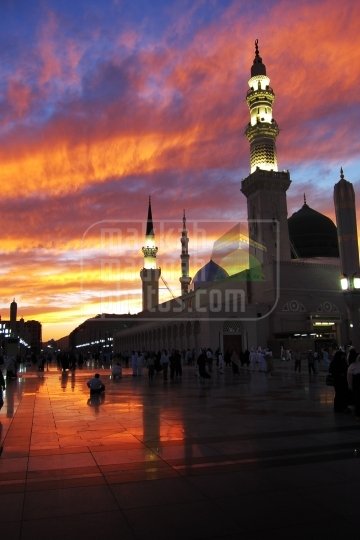 Sunset shot from Masjid Nabawi