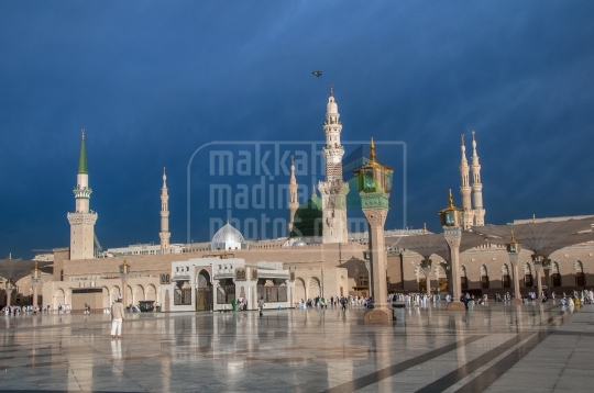 The Holy Prophet's Mosque in Madinah.