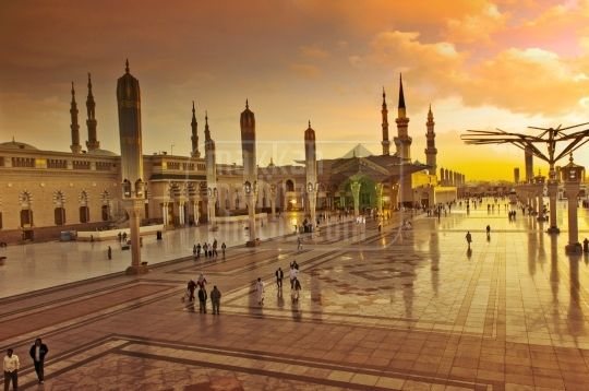 The Holy Prophet's Mosque in Medina.