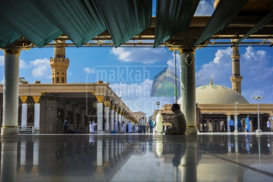 A roof top shot from Masjid Nabawi