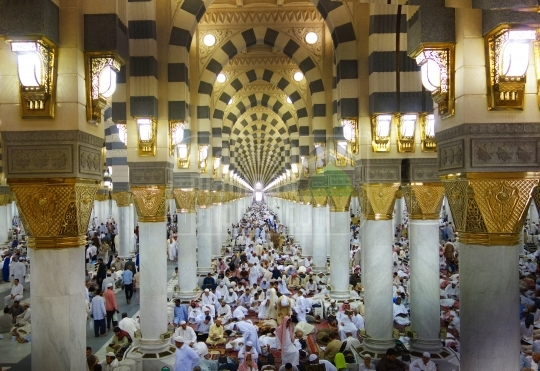 A shot from inside Masjid Nabawi