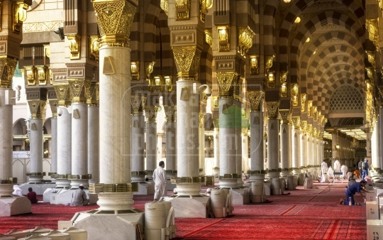 A shot from inside Masjid Nabawi,Al-Madinah
