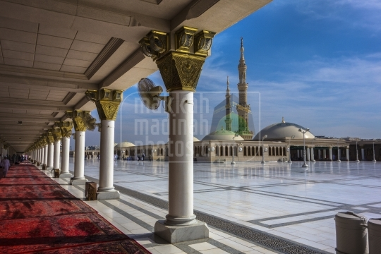 A shot from the roof top , Masjid Nabawi.