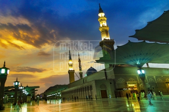 An evening shot at western side, Holy Mosque.