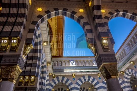 Arches inside haram.