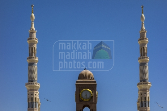 Clock tower and Minarets,King Fahd Gate.