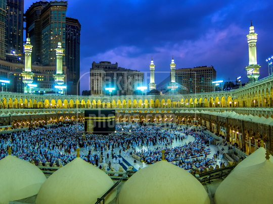 Evening shot from Makkah