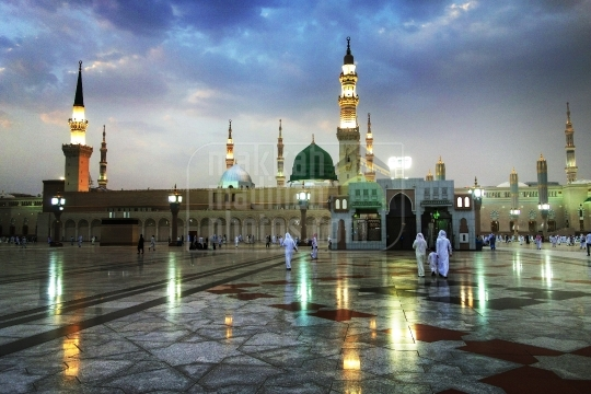Green dome and Minarets,Holy Mosque