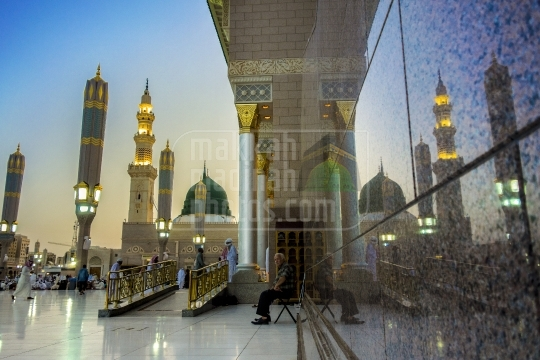 Green dome reflection