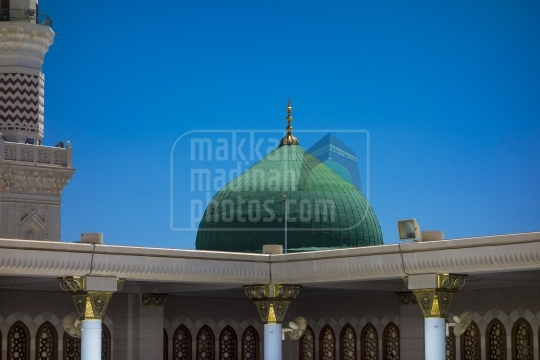 Green Dome view from rooftop.