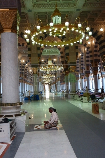 Inside Holy Holy Mosque