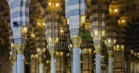 Inside Holy Mosque.