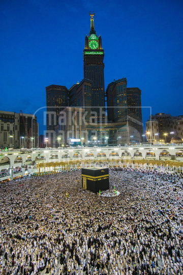 Kaaba with Clock Tower