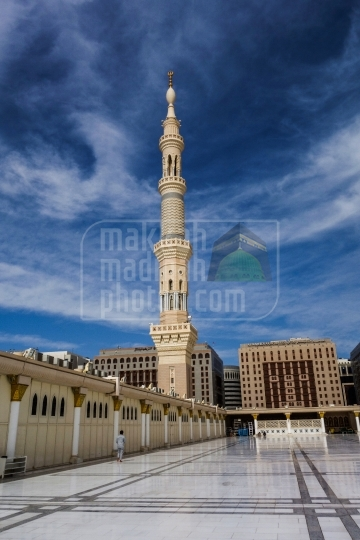 Minaret view from rooftop.
