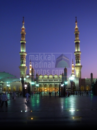 Northern view of haram Nabawi Sherif