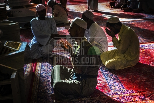 Pilgrims Praying inside Masjid Nabawi