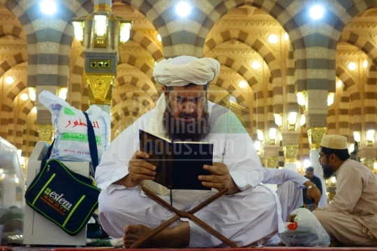 Reciting Holy Qur'an, Inside Mosque