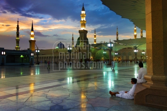 Sunset in Masjid Nabawi.